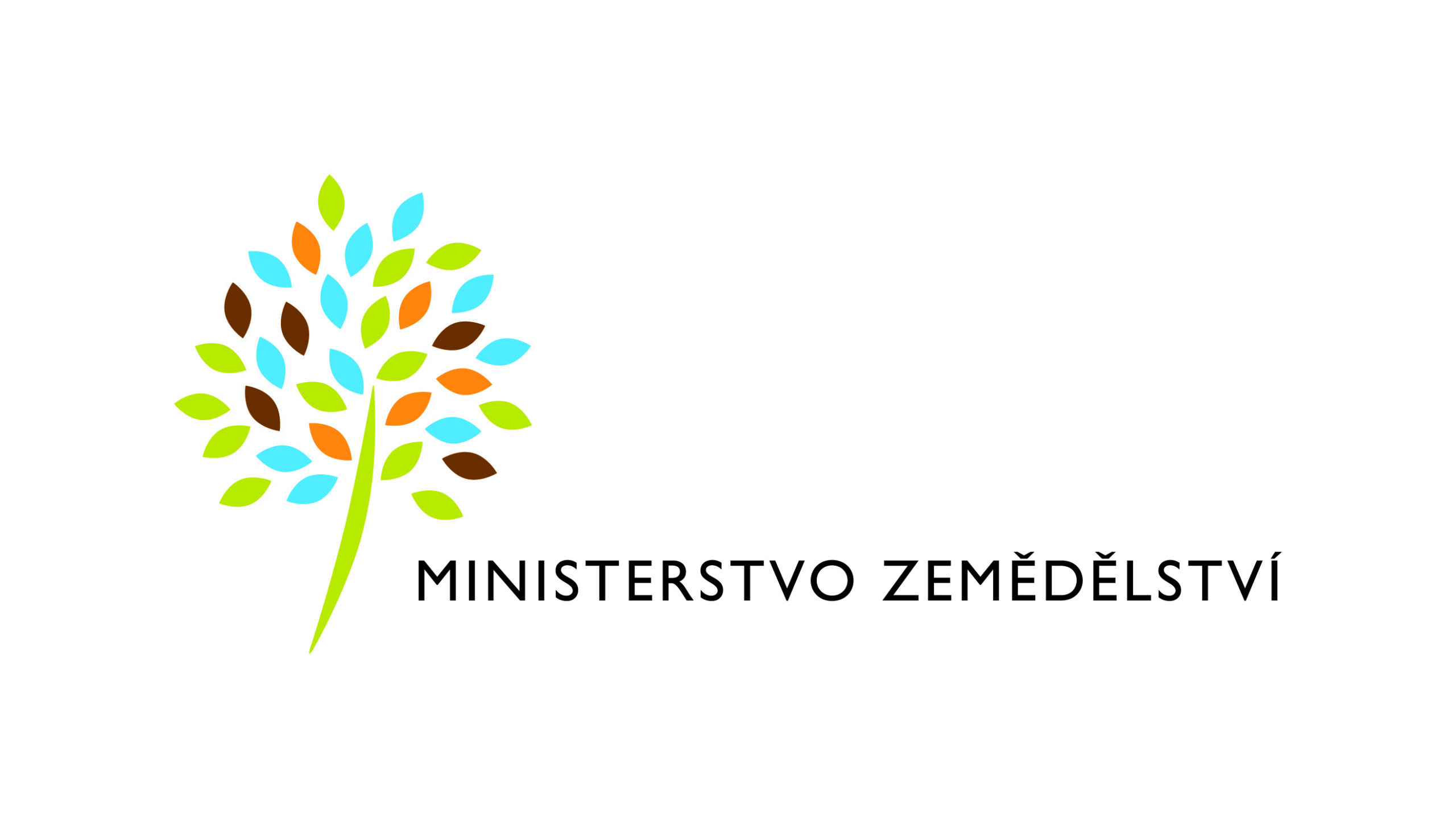 Logo Ministerstva zemědělství ČR (obrázek stromu a nápis Ministerstvo zemědělství)